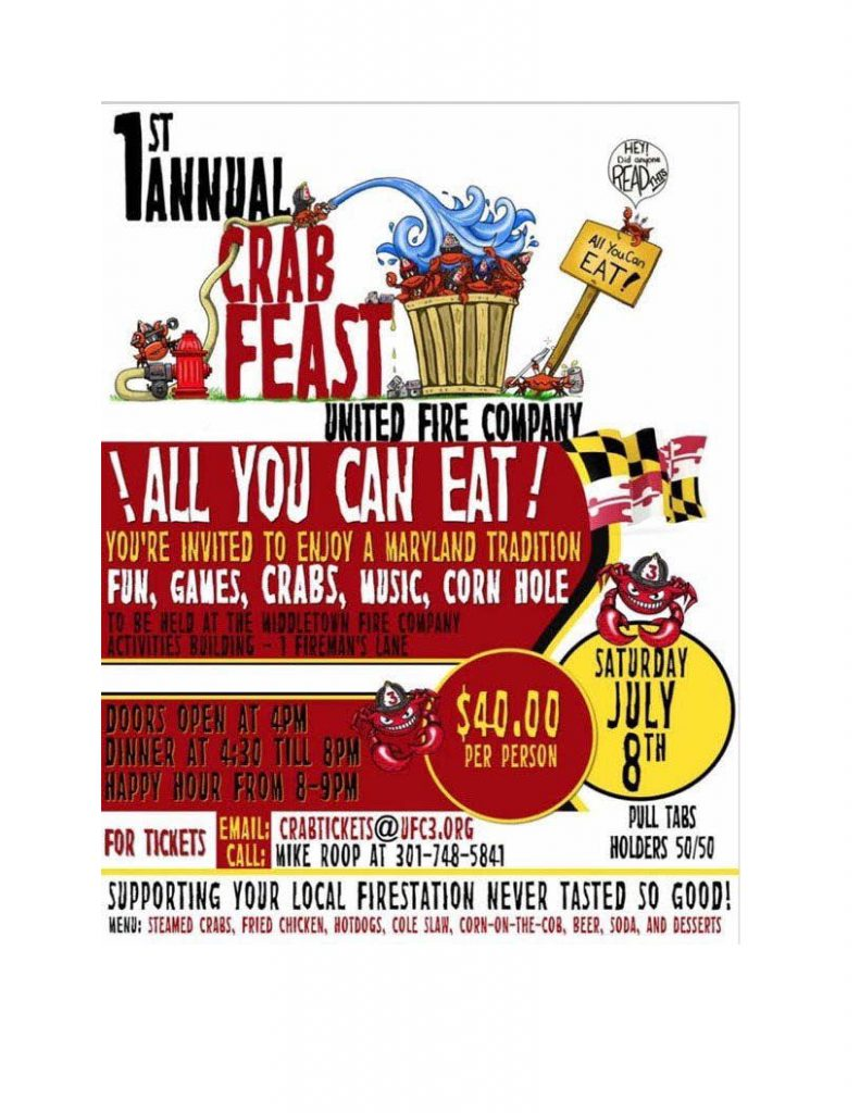 1st Annual United Fire Company Crab Feast @ United Fire Company